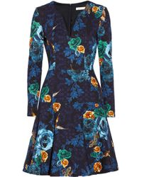 Matthew Williamson Treasured Garden Printed Stretch Cotton Dress - Lyst