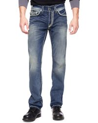 True Religion Hand Picked Straight Back Flap Pocket Super Qt Mens Jean - Lyst