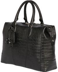 Santoni - Hand Painted Embossed Leather Duffle Bag - Lyst