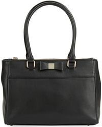 Kate Spade Small Reena Leather Satchel black - Lyst