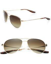 Barton Perreira Lovitt Round Metal Aviator Sunglasses - Lyst