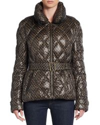Burberry Brit Jackston Printed Quilted Puffer Jacket - Lyst