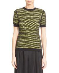 Phelan - Short Sleeve Reversible Jacquard Knit Pullover - Lyst