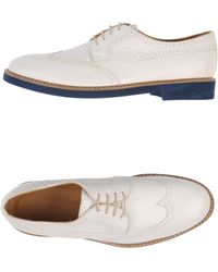 Emporio Armani Laceup Shoes - Lyst