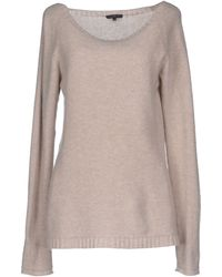 Almeria Wide-Neck Wool-Blend Sweater - Lyst