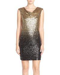 Maia - Ombre Sequin Sheath Dress - Lyst