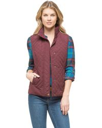 G.h. Bass & Co. Purple Quilted Vest - Lyst