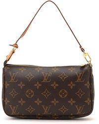 Louis Vuitton Brown Pouch brown - Lyst