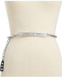 Michael Kors Michael Logo Plate Chain Belt - Lyst