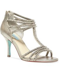 Betsey Johnson Blue By Rock Evening Sandals - Lyst