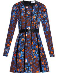 Caterina Gatta - Abstract Flower-print Pleated Dress - Lyst