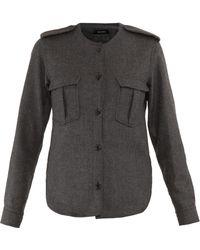Isabel Marant Iggy Slim Fit Shirt Jacket - Lyst