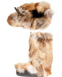 Chloé Eco Fur Boot - Lyst