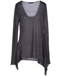 Donna Karan New York Gray Jumper - Lyst