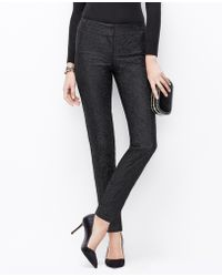 Ann Taylor Lace Slim Ankle Pants - Lyst