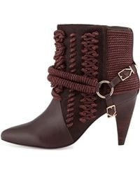 Ivy Kirzhner Chile Rope Harness Ankle Boot purple - Lyst