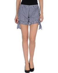 D&G Checked Mini Shorts - Lyst