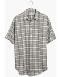 Madewell Courier Shirt In Serene Plaid - Lyst