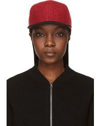 Rag & Bone Red Wool Cap - Lyst