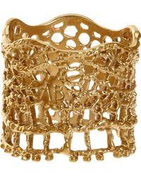 Aurelie Bidermann Lace Ring gold - Lyst