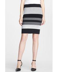 Alexander Wang Stripe Sweater Skirt - Lyst