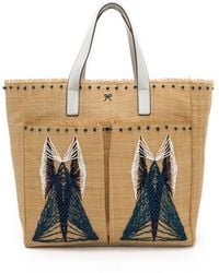 Anya Hindmarch Nevis Pinart Tote London Blue - Lyst