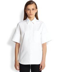 Proenza Schouler Textured Cotton Shirt - Lyst
