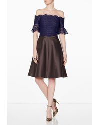 Carven Lace Top Dress - Lyst