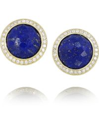 Ippolita Lollipop 18karat Gold Lapis Lazuli and Diamond Earrings - Lyst