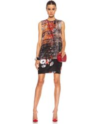 MSGM Printed Mini Shift Dress - Lyst