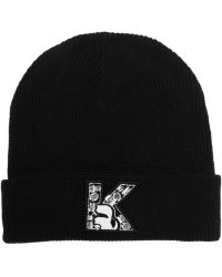 Karl Lagerfeld Crystalembellished Knitted Beanie - Lyst