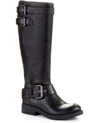 Nine West Aragosta Buckle Accented Boots - Lyst