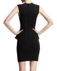 Lanvin Sleeveless Neoprene Peplum Dress - Lyst