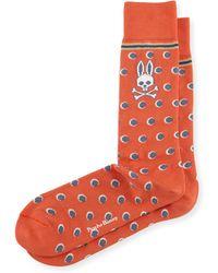 Psycho Bunny - Stripes & Dots Printed Socks - Lyst