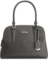Calvin Klein   Saffiano Leather Satchel   Lyst