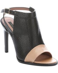 Rachel Zoe Black and Rose Roccia Leather Lacey Slingback Mules - Lyst