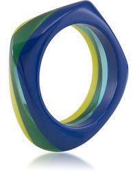 Carolee - Blue Petals Color-Blocked Bangle Bracelet - Lyst
