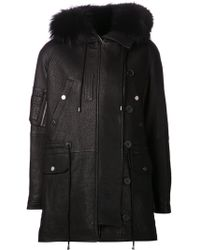 Yigal Azrouel Long Hooded Jacket - Lyst