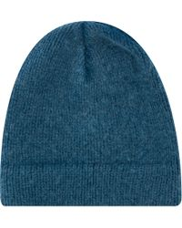 Boglioli - Knitted Merino Wool Beanie Hat Turq - Lyst