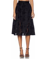 Sam Edelman Embroidered Midi Skirt - Lyst