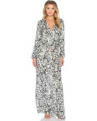 Johanne Beck - Hera Wrap Front Maxi Dress - Lyst