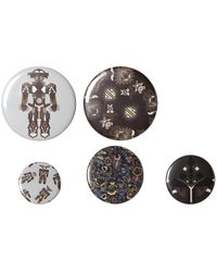 MSGM - 5 Pack Of Printed Pins - Lyst