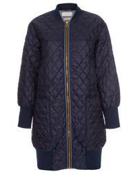 Paul Smith - Women's Navy Quilted Down Coat - Lyst