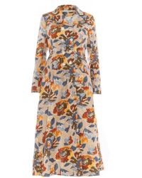 Renli Su - Floral Jacquard Woven Silk Long Coat - Sold Out - Lyst