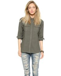 Madewell Olive Overshirt - Canadian Olive - Lyst