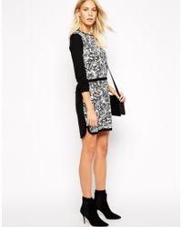 Oasis Monochrome Floral Woven Front Dress - Lyst