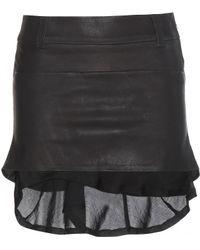 Haider Ackermann Leather Skirt black - Lyst
