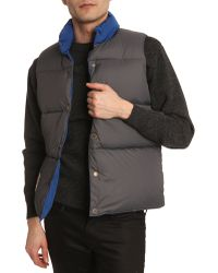 Penfield Outback Blue Sleeveless Down Jacket - Lyst