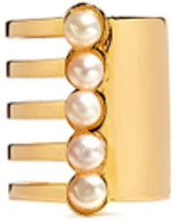 Assad Mounser - 'eternity' Pearl Asymmetric Cutout Tall Ring - Lyst
