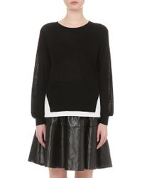 5cm - Contrast-panel Knitted Jumper - Lyst